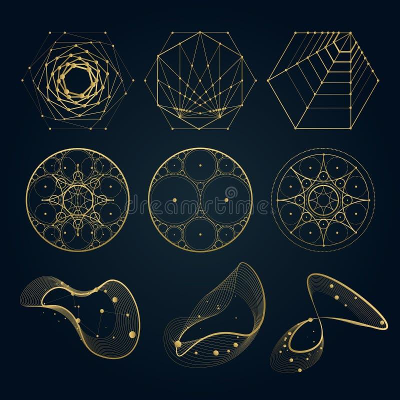 Heilige meetkundevormen van lijnen royalty-vrije illustratie
