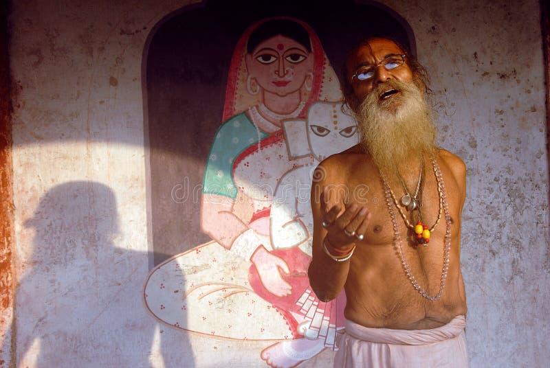 Heilige mens in India royalty-vrije stock foto