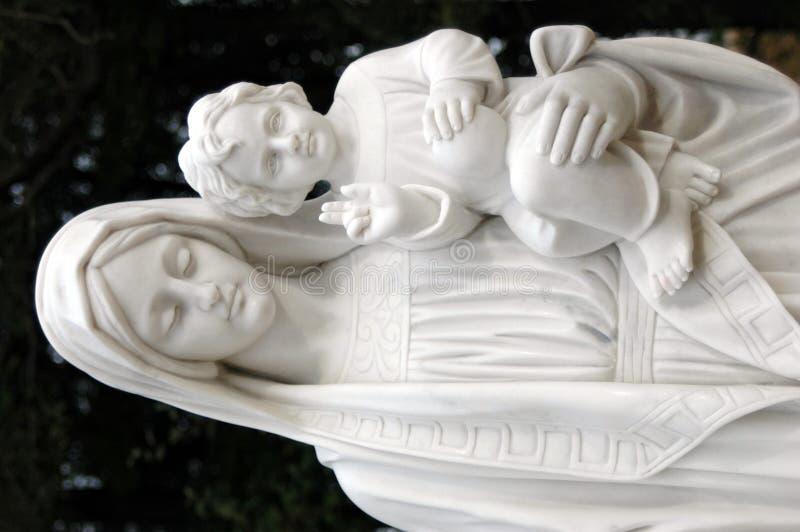 Heilige Mutter und Kind stockfotografie