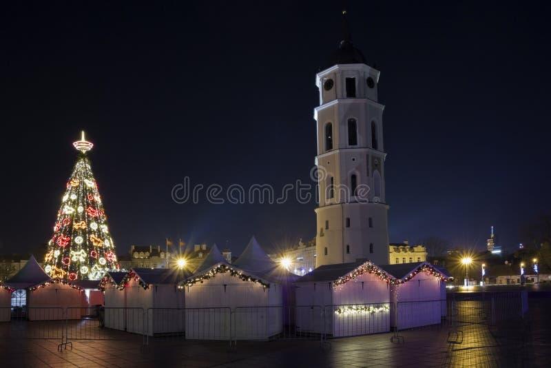 Heilige Nacht in der alten Stadt stockfoto