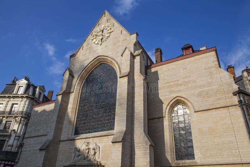 Heilige Nicholas Church in Brussel stock fotografie