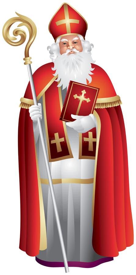 Heilige Nikolaus, Sinterklaas, Saint-Nicolas illustration libre de droits
