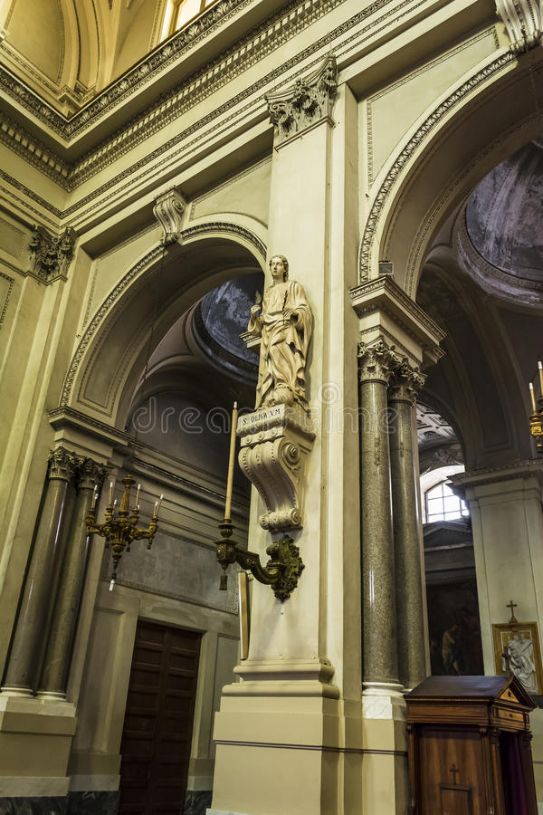 Heilige Olivia van Palermo - Kathedraal van Palermo in Sicilië, Italië stock fotografie