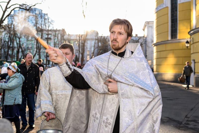 Heilige Ostersonntag Zeremonie lizenzfreie stockfotografie