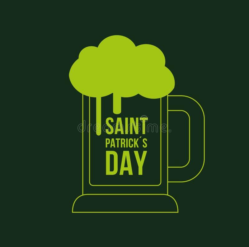 Heilige Patrick stock illustratie