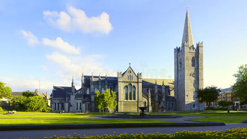 Heilige Patrick Cathedral Dublin Ierland stock afbeelding