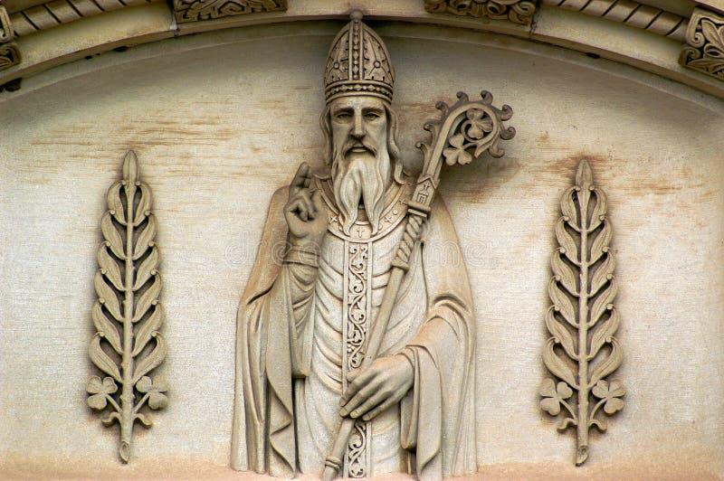 Heilige Patrick en Klavers stock afbeelding