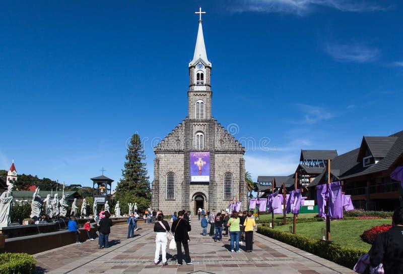 Heilige Peter Church Gramado Brazilië royalty-vrije stock foto