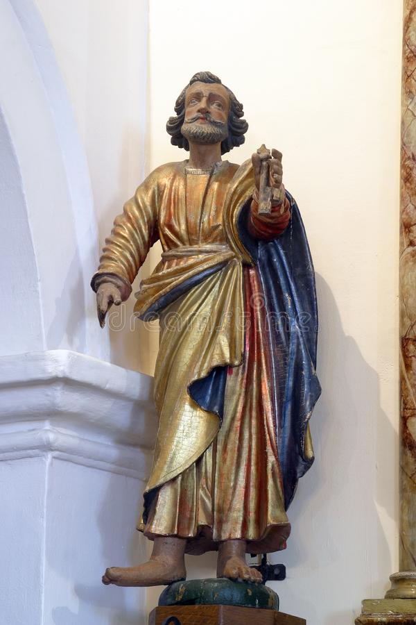 Heilige Peter de Apostel stock afbeeldingen