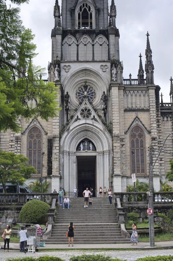 Heilige Peter van Alcantara-Kathedraal in Petropolis, Rio de Janeiro royalty-vrije stock afbeeldingen