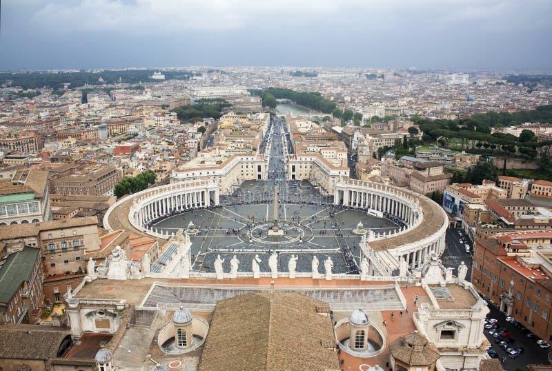 Heilige Peters Square in de Stad van Vatikaan royalty-vrije stock fotografie