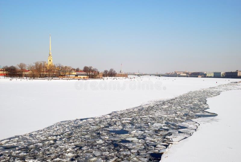 Heilige-Petersburg. De vesting van Petropavlovskaya royalty-vrije stock fotografie