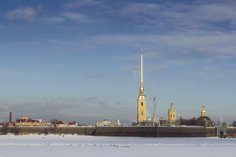 Heilige-Petersburg Peter en Paul Fortress royalty-vrije stock afbeelding