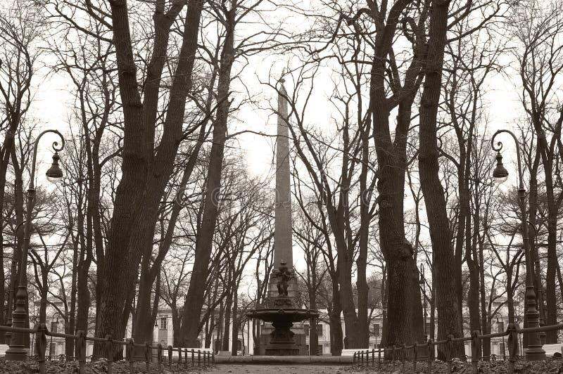 Heilige-Petersburg Rumyantsevtuin royalty-vrije stock foto's