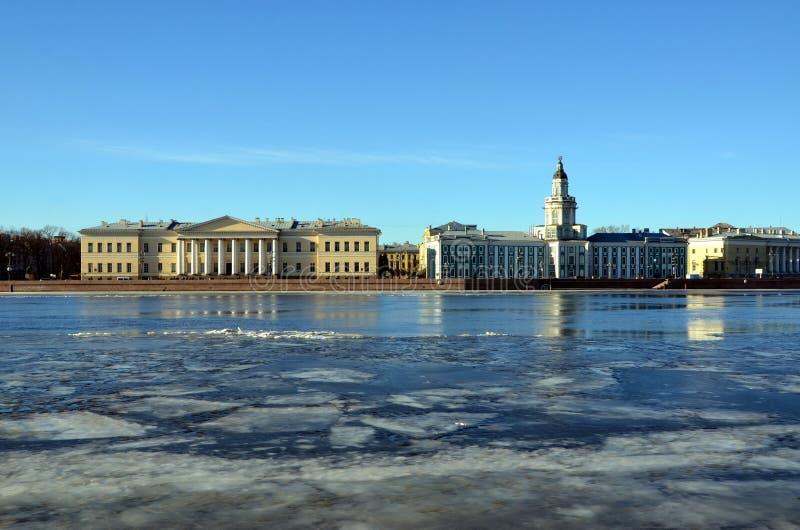 Heilige-Petersburg, Universitaire dijk stock fotografie