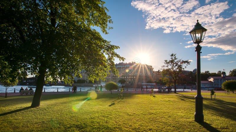 Heilige-Petersburg, Vasilevsky-Eiland stock foto
