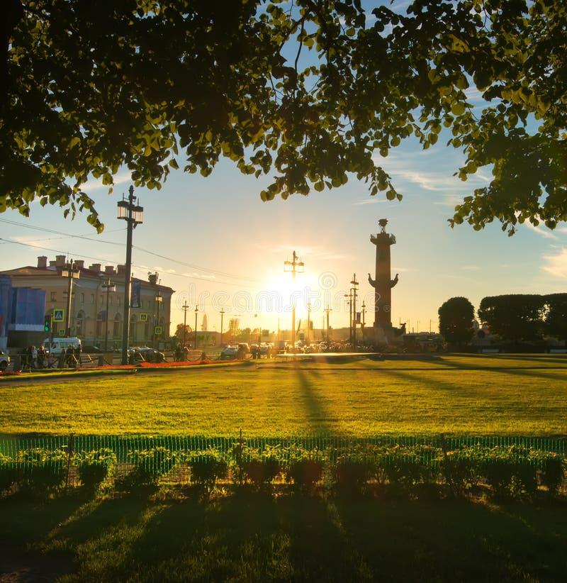 Heilige-Petersburg, Vasilevsky-Eiland stock afbeelding