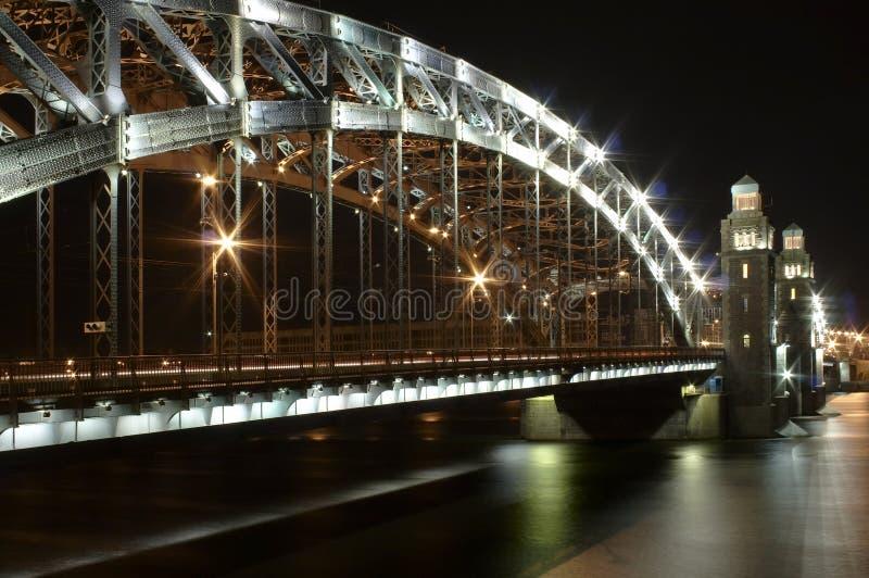 Heilige-Petersburg verhaalbrug stock fotografie
