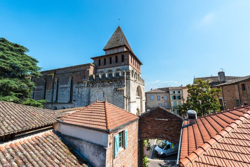 Heilige Pierre Abbey in Moissac, Frankrijk stock foto's