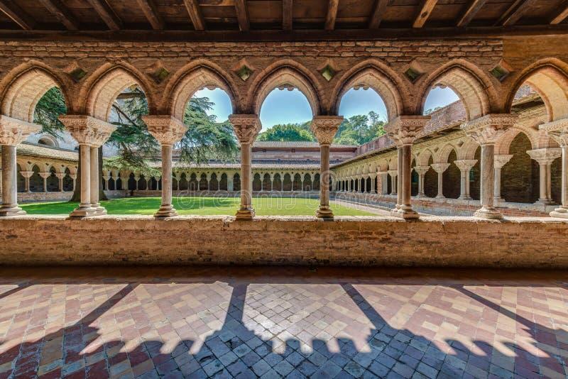 Heilige Pierre Abbey in Moissac, Frankrijk stock fotografie