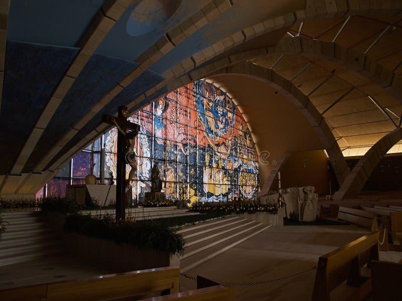 Heilige Pio van Pietrelcina-heiligdom, San Giovanni Rotondo, Ital royalty-vrije stock foto