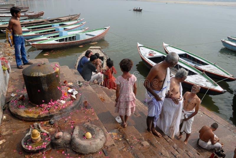 Heilige Plaats in India stock afbeeldingen