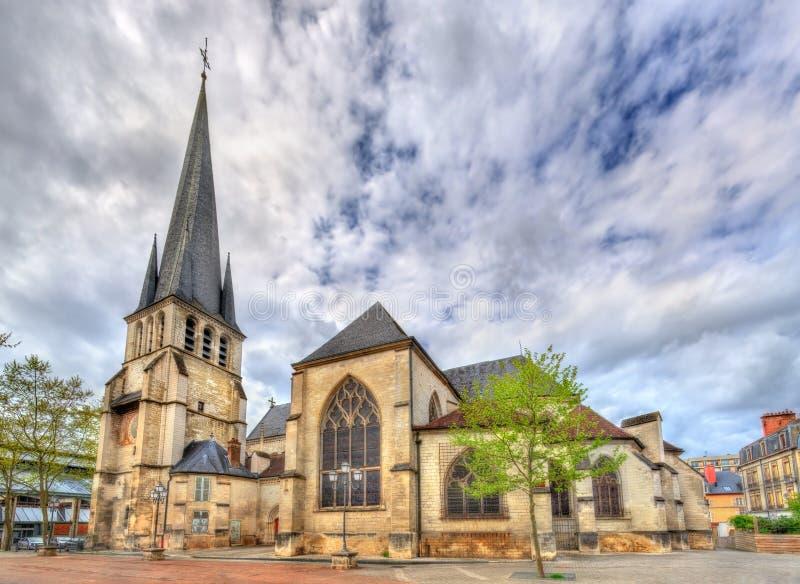 Heilige Remy Church van Troyes in Frankrijk stock afbeeldingen