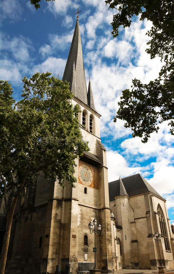 Heilige Remy Church van Troyes in Frankrijk, Aube stock afbeelding
