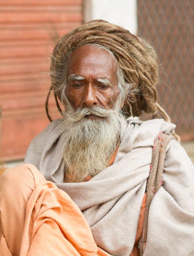 Heilige Sadhu royalty-vrije stock foto's