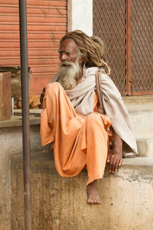 Heilige Sadhu stock afbeeldingen