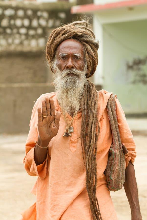 Heilige Sadhu royalty-vrije stock afbeelding