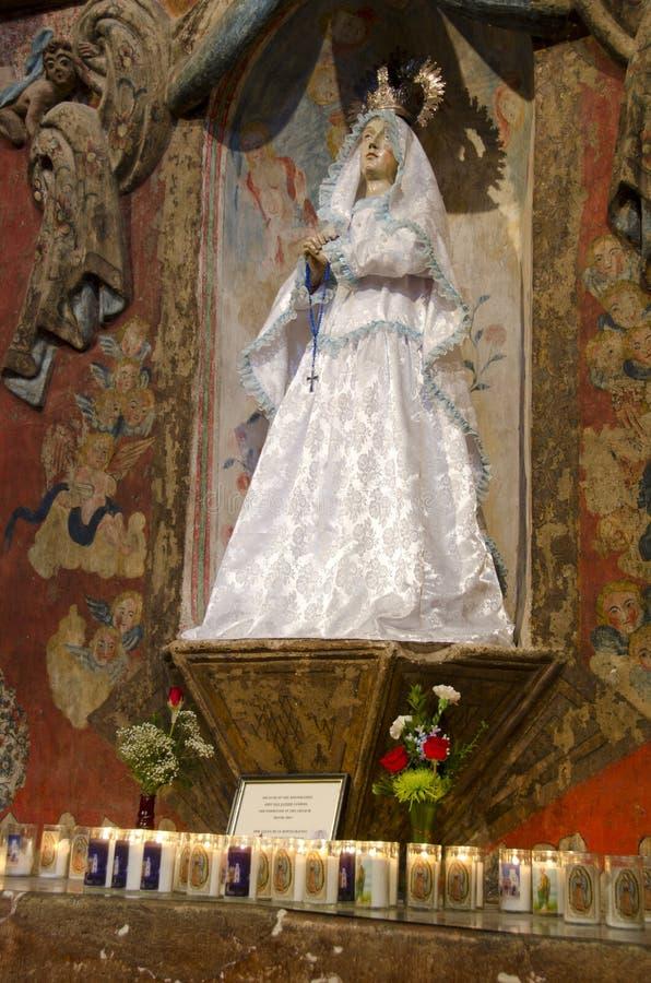 Heilige in San Xavier del Bac Mission royalty-vrije stock afbeelding