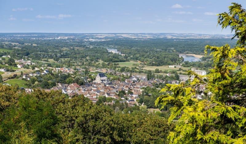 Heilige-Satur in de Loire, Frankrijk royalty-vrije stock foto