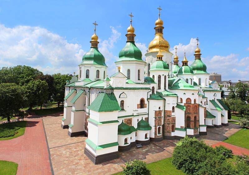 Heilige Sophia Cathedral in Kiev, de Oekraïne stock fotografie