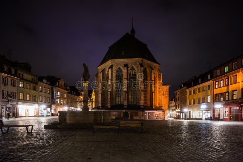 Heilige spookkerk in Heidelberg stock foto