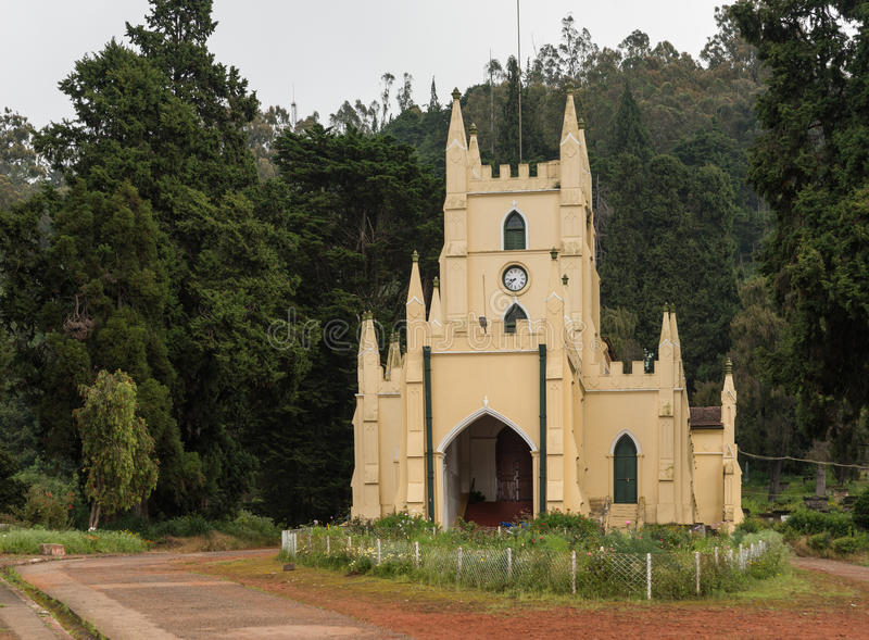 Heilige Stevens Church in Ooty royalty-vrije stock foto