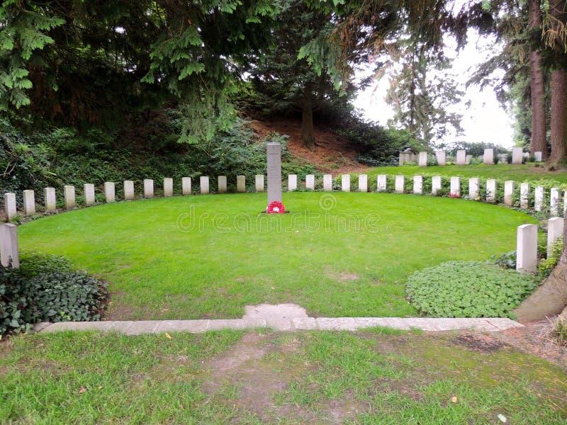 Heilige-Symphorien Begraafplaats, België royalty-vrije stock foto's