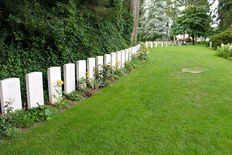 Heilige-Symphorien Begraafplaats, België stock fotografie