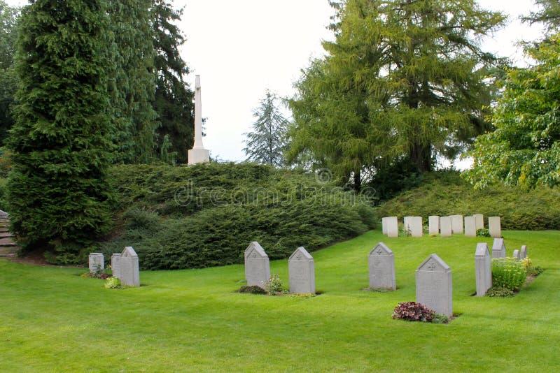 Heilige-Symphorien Begraafplaats, België stock foto's