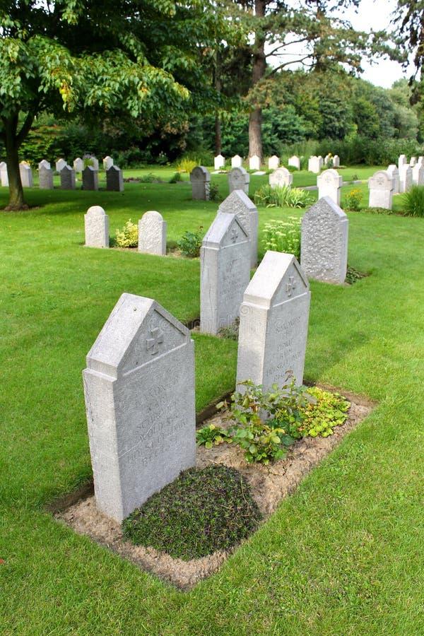 Heilige-Symphorien Begraafplaats, België stock foto