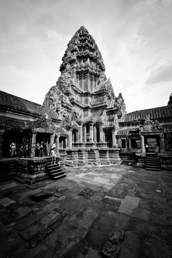 Heilige tempel in Kambodja royalty-vrije stock afbeelding