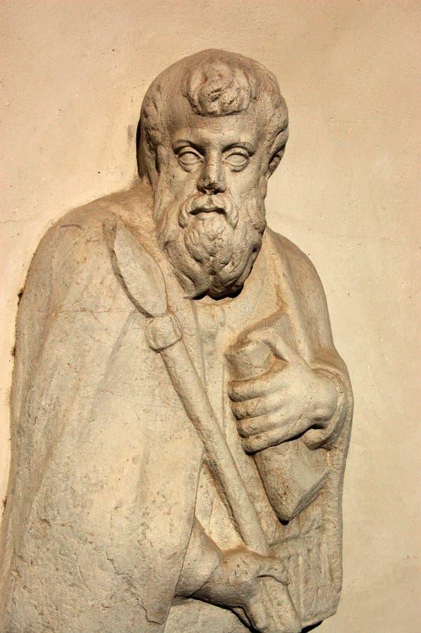 Heilige Thomas het standbeeld van de Apostel stock afbeeldingen