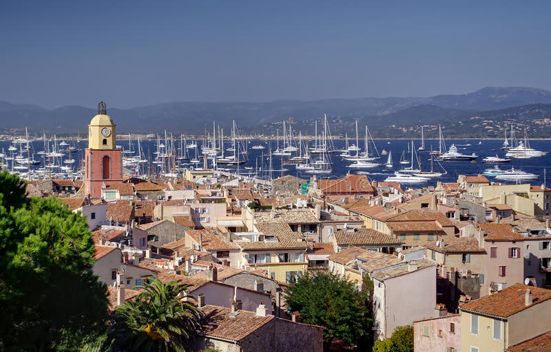Heilige Tropez stock afbeeldingen