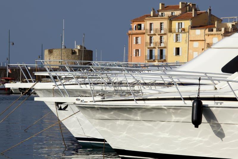 Heilige Tropez harbor.bis royalty-vrije stock afbeeldingen