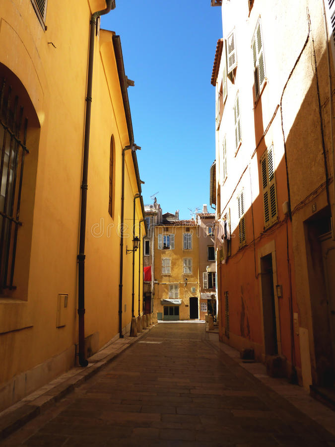 Heilige-Tropez straat, Frankrijk royalty-vrije stock afbeeldingen