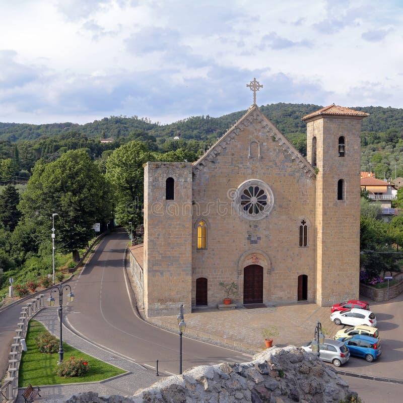 Heilige Verlosserkerk - Bolsena, Viterbo stock fotografie
