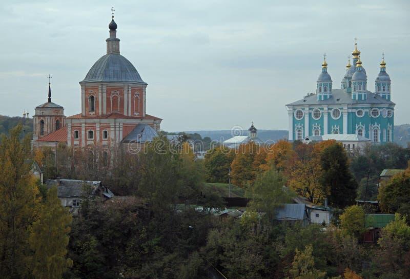 Heilige Veronderstellingskathedraal in Smolensk stock foto