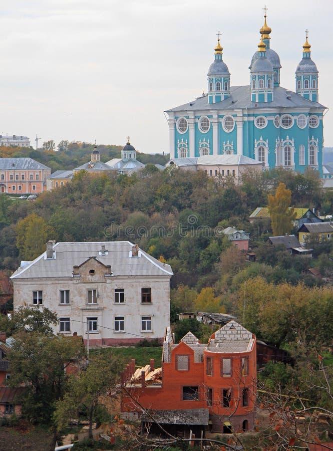 Heilige Veronderstellingskathedraal in Smolensk royalty-vrije stock foto's