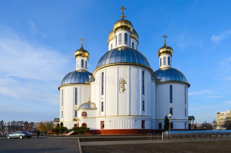 Heilige Verrijzeniskathedraal, Brest, Wit-Rusland royalty-vrije stock fotografie