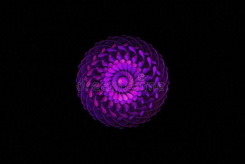 Heilige Violet Geometry stock afbeeldingen